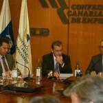 El Presidente y el Secretario General de Coalición Canaria se reúnen con la Junta Directiva