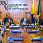 Encuentro de la Junta Directiva con representantes de Nueva Canaria