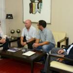 00-Los secretarios generales en Canarias de UGT y CCOO visitan la CCE