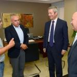 01-Los secretarios generales en Canarias de UGT y CCOO visitan la CCE