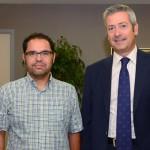 Los secretarios generales en Canarias de UGT y CCOO visitan la CCE