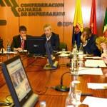 El presidente de la Autoridad Portuaria de Las Palmas visita a la Comisión de Puertos