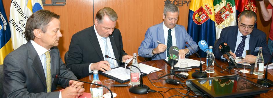 CCE y CEOE Tenerife firman un acuerdo de cooperación con la federación bávara de empresarios