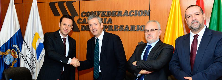 La Confederación y Canaragua suscriben un convenio de colaboración.