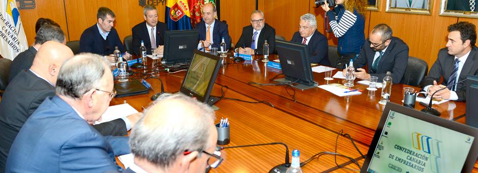Visita del Presidente del Gobierno de Canarias